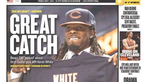 The Chicago Bears select WR Kevin White at No. 7 overall