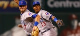 Cubs SS Starlin Castro mimics Kris Bryant as he fields grounder, throws to first
