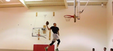 Zach LaVine pulls off alley-oop windmill slam with a thrown football