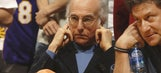 Larry David is funny even when he just attends a sporting event