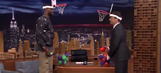 LeBron James narrowly defeats Jimmy Fallon in game of 'Faceketball'