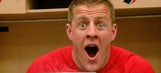 Double surprise! Guy learns he's going to be a father from J.J. Watt
