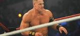 WWE Superstar John Cena shows off his impressive weightlifting skills