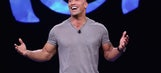 The Rock's adorable dog couldn't care less about what he's cooking