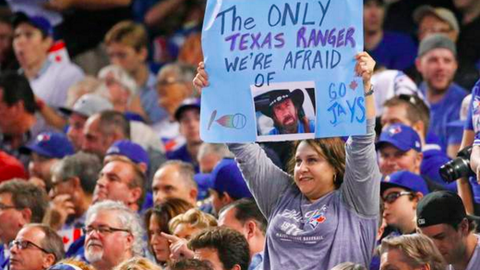 In Toronto during the Blue Jays-Texas Rangers ALDS