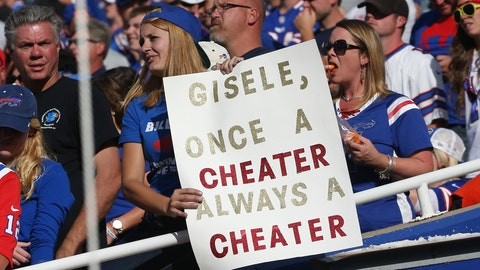 Bills fans have the Tom Brady-Deflategate jokes