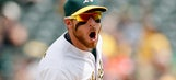 A's Brett Lawrie did an impressive box jump and then went nuts