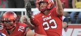 WATCH: Utah's Tom Hackett pulls off fake punt, trucks BYU defender