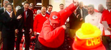Andy Reid's celebratory locker room dab: Streaking Chiefs rise from 1-5 to the playoffs