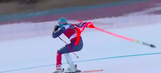 WATCH: Italian skier clips gate, drags it behind him down World Cup course