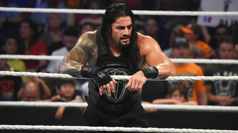 Seth Rollins vs. Dean Ambrose vs. Roman Reigns for the WWE Championship