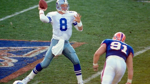 Super Bowl XXVII: Troy Aikman vs. Jim Kelly