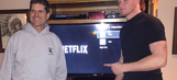 Michigan's Jim Harbaugh literally 'Netflix and chills' with top defensive end recruit