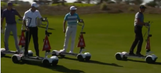 Watch Spieth, McIlroy, Fowler and Stenson cruising around on golf hoverboards
