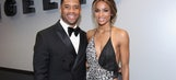 Russell Wilsona and Ciara enjoyed their time on the Grammys red carpet