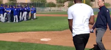 Watch the moment when Dexter Fowler surprised Cubs teammates with return to camp