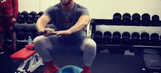 Bryce Harper performs mildly insane squat atop exercise ball
