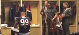 J.J. Watt let Zac Brown smash a guitar over his back