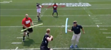 Jon Gruden grooms Carson Wentz for the NFL by beating him with a pool toy