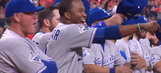 The Royals had a good laugh when a former teammate fell on his face during introductions