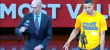 Adam Silver swerved Steph Curry's handshake try, then made up for it