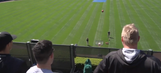 White Sox players attempt crazy basketball trick shot from stands