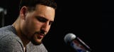 Klay Thompson tried to find a 'positive' after blowout loss and just made it worse