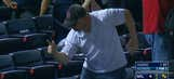 Fan at Braves game busts out Ric Flair strut to celebrate foul ball catch