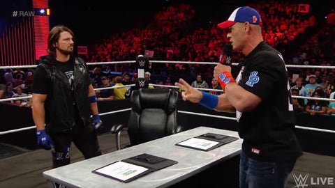 AJ Styles beats up John Cena for a title shot