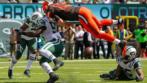 Josh McCown's goal line helicopter fumble (Week 1)