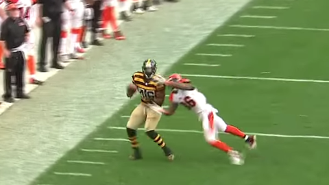 Bengals safety Shawn Williams comes out of nowhere to make spectacular interception (Week 8)