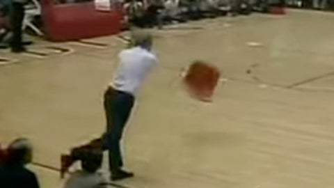 Bobby Knight and the famous chair incident (February 1985)