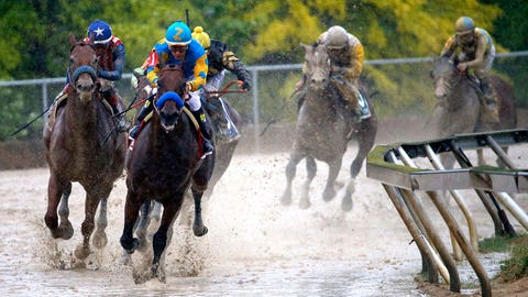 Wet and wild: On the scene at the 140th Preakness Stakes
