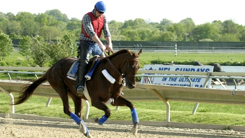 Smarty Jones is run down by Birdstone