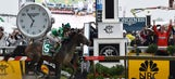 Exaggerator closes to upset Nyquist in Preakness Stakes