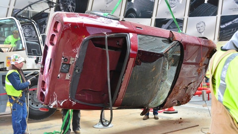 Rare Corvettes extracted from sinkhole