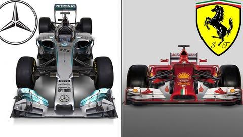 Ferrari F14-T & Mercedes W05