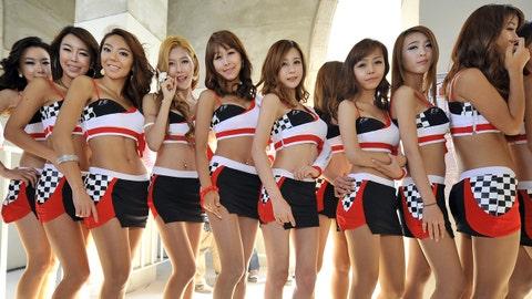 Formula 1 grid girls