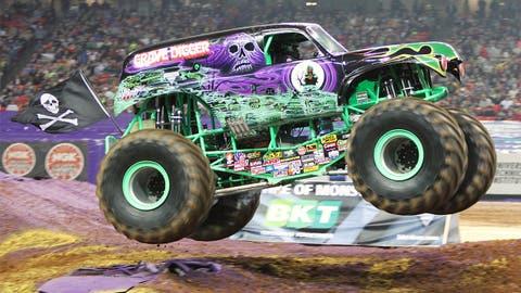 Monster Jam racing in Atlanta: Grave Digger®