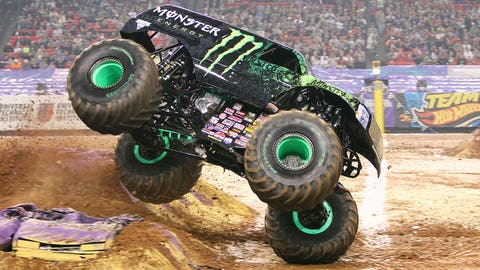 Monster Jam racing in Atlanta: Monster Energy