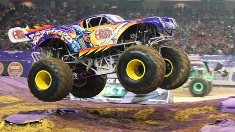 Monster Jam racing in Atlanta: War Wizard