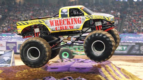Monster Jam racing in Atlanta: Wrecking Crew