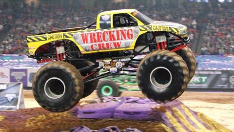 Monster Jam racing in Atlanta: Wrecking Crew