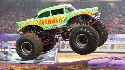 Monster Jam racing in Atlanta: Avenger