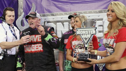 Monster Jam racing in Atlanta: Grave Digger®