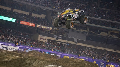 Monster Jam racing in Anaheim: Max-D (SM)
