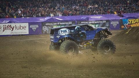 Monster Jam racing in Anaheim: Cleatus