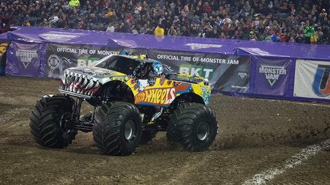 Monster Jam racing in Anaheim: Team Hot Wheels