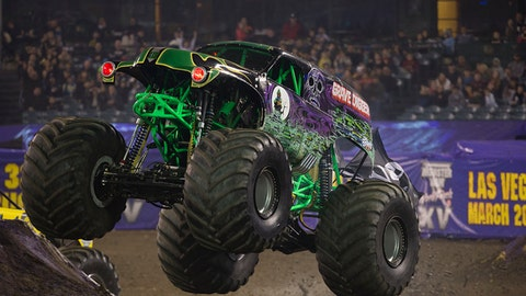 Monster Jam racing in Anaheim: Grave Digger®