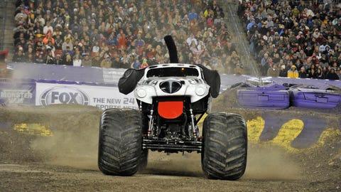 Monster Jam racing in Tampa, FL: Monster Mutt Dalmatian